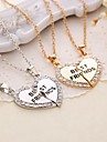 Ожерелье Ожерелья с подвесками Бижутерия Повседневные В форме сердца Сердце Первоначальные ювелирные изделия Медь 1 комплект Подарок