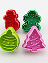 Cookie Stamp Biscuit Mold 3D Snowman Cookie Plunger Cutter DIY Baking Mould Gingerbread House Christmas Cookie Cutters