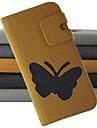 Для Samsung Galaxy Note Бумажник для карт / Кошелек / со стендом / Флип Кейс для Чехол Кейс для Бабочка Искусственная кожа Samsung Note 2