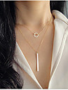 Necklace Pendant Necklaces / Chain Necklaces Jewelry Party / Daily / Casual Fashion Alloy Silver 1pc Gift