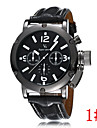 Domineering Men Classic Casual Sports High-Quality Leather Watch Big Dial Wrist Watch Cool Watch Unique Watch