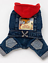 Dog Hoodie Denim Jacket/Jeans Jacket Dog Clothes Cowboy Jeans Blue