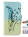 Feather PU Material  Phone Case Dust Plug Stylus Pen Combination for Samsung S3/4/5/6/S4 Mini/S6 edge/S6 edge+