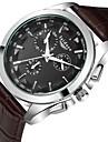 Men\'s Fashion Business Genuine Leather Quartz Wrist Watches Cool Watch Unique Watch