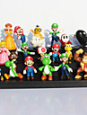 18Pcs/Set Plastic Super Mario Bros PVC Action Figures Mario Luigi Yoshi Princess Toys Dolls