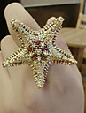 Ring Fashion Party Jewelry Alloy Women Statement Rings 1pc,One Size Gold