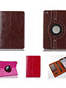 Fashion boutique PU Leather 360⁰ Cases Auto Sleep/Wake Up Card holder Cases For iPad 4/3/2(Assorted Color)