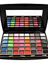 48 Colors Paleta de Sombras Mate Paleta da sombra Po Conjunto Maquiagem Esfumada / Maquiagem de Festa