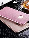 Pour iPhone X iPhone 8 iPhone 6 iPhone 6 Plus Etuis coque Liquide Motif Coque Arriere Coque Couleur unie Flexible PUT pour Apple iPhone X