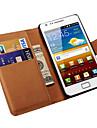 caso genuino carteira de couro para Samsung Galaxy S2 i9100