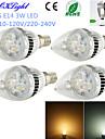 3W E14 LED gyertyaizzók C35 3 Nagyteljesítményű LED 260 lm Meleg fehér / Hideg fehér Dekoratív AC 220-240 / AC 110-130 V 4 db.