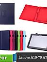 lichee stijl folioboek pu leer Smart Cover met standaard geval voor lenovo a10-70 / a7600 tafel (diverse kleuren)