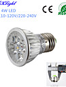 YouOKLight® E27 4W Dimmable 4-High Power LED Spotlight Warm White /Cold White 3000/6000K 400lm (AC110-120/220-240V)
