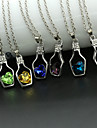 Women\'s Pendant Necklaces Crystal Crystal Alloy Heart Fashion Yellow Red Green Pink Light Blue Jewelry Wedding Party Daily Casual 1pc