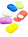 Travel Soap Dish Waterproof / Portable Travel Storage Plastic Green / Purple / Blue / Pink