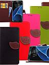 Pour Samsung Galaxy S7 Edge Portefeuille / Porte Carte / Avec Support / Clapet Coque Coque Integrale Coque Couleur Pleine Cuir PU Samsung