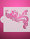 Elegant Phoenix Pattern Cake Stencil,Cake Side Stencil Template Mold,Wall Stencils for Painting,Fondant Design ST-3118