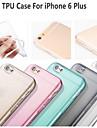"varm sälja ultratunna stil mjukt flexibelt transparent TPU väska till iPhone 6s plus / 6 plus 5,5 ""- (blandade färger)"