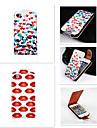 Para Capinha iPhone 5 Flip Capinha Corpo Inteiro Capinha Azulejos Rigida Couro PU iPhone SE/5s/5