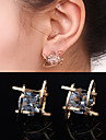 Earring Stud Earrings Jewelry Women Wedding / Party / Daily / Casual Alloy / Rhinestone 2pcs Gold / Silver