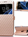 Ling Plaid Pattern High Quality PU Wallet Leather Case for Samsung Galaxy S7 edge/S7/S6/S6 edge