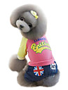 Dog Shirt / T-Shirt Green / Pink Dog Clothes Winter Jeans / Letter & Number Fashion