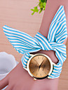 Women Korean Fashion Cute Stripe Fabric Bow Bracelet Watch Cool Watches Unique Watches
