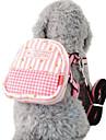 Dog Harness / Leash / Backpack Adjustable/Retractable / Stripe Blue / Pink Textile
