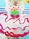 Dog Dress / Clothes/Clothing Red / Pink / Yellow Spring/Fall Bowknot / Fruit Fashion