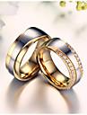 Ring AAA Cubic Zirconia / Imitation Diamond Anniversary / Birthday / Engagement / Wedding Jewelry Zircon / Titanium Steel / Gold Plated