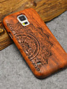 Natural Wood Samsung Case Lucky Flower Totem Hard Back Cover for Galaxy S5