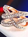 Diamond Punk Cross Statement Rings Wedding / Party / Daily / Casual 1pc