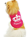 Cat / Dog Shirt / T-Shirt Rose Dog Clothes Summer / Spring/Fall Tiaras & Crowns