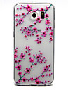 Red Flowers Pattern TPU Soft Relief Case for Samsung Galaxy S7/S7 edge