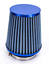 """Replacement 76mm 3"""" Plastic Hose Clamp Conical Mesh Car Air Intake Filter Blue"""