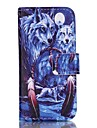 Wolf Painted PU Phone Case for iphone5SE