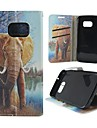 For Samsung Galaxy Case Card Holder / Wallet / with Stand / Flip / Pattern Case Full Body Case Elephant PU Leather SamsungS7 / S4 / S3