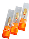 """3Pcs/set 5mm""""6mm""""6.5mm"""" Pro Cylinder Electric Gold Carbide art Nail Care Drill Bit Accessories Tool File"""