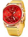 Mulheres Relogio de Moda Quartzo Lega Banda Dourada Branco Preto Vermelho Azul Rosa claro