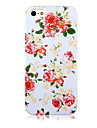 Para Capinha iPhone 5 Estampada Capinha Capa Traseira Capinha Flor Rigida PCiPhone 7 Plus / iPhone 7 / iPhone 6s Plus/6 Plus / iPhone