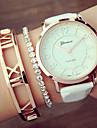 Mulheres Relogio de Moda Bracele Relogio Quartzo PU Banda Preta Branco Branco Preto