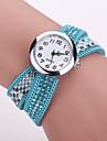 Xu™ Женские Модные часы Часы-браслет Кварцевый PU Группа Черный Белый Синий Красный Коричневый Фиолетовый