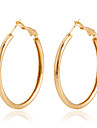 Hoop Earrings Alloy Golden Jewelry Wedding Party Daily Casual 1 pair