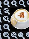 кофе инструменты капучино фантазии шаблон накладка пыльник спрей бариста молочной пены творческий пластиковый Garland формы 16 комплект