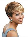 perruque Blonde Synthetique Sans bonnet Perruques Droit Court Couleur melangee Cheveux