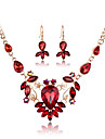 MISSING U Crystal / Alloy / Rhinestone / Rose Gold Plated Jewelry Set Necklace/Earrings Wedding / Party / Daily