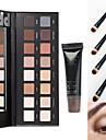 16Sombra para OlhosEspelho / Pinceis de Maquiagem Secos / Mate / Brilho / Mineral OlhosGloss com Purpurina Brilhante / Gloss Colorido /