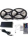 Waterproof 2×5M 150X5050 SMD RGB LED Strip Light and 44Key Remote Controller and 6A EU Power Supply (AC110-240V)