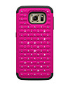 For Samsung Galaxy Case Shockproof / Rhinestone / Embossed Case Back Cover Case Geometric Pattern PC Samsung S7 / S6 edge / S6