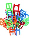 chaises empilables jeu d\'equilibre bureau jouet puzzle educatif multi-couleur (18pcs)